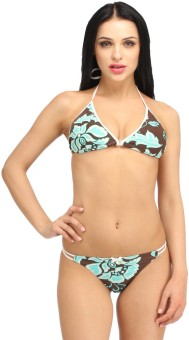 Snoby Coloured Underwire Bra & Brief (SBY7004) Printed Women's