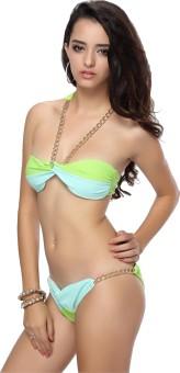 N-Gal Dual Tone Bikini Swimwear Solid Women's