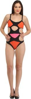 Secret Wish Cutout Multicolor Monokini Solid Women's