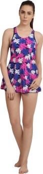 Speedo SPEEDO FEMALE ALL OVER PRINT RACERBACK SWIMDRESS BOYLEG Printed Women's