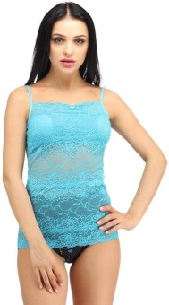 Snoby Lingerie In Lace In Blue Solid Women's