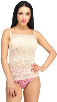 Snoby Lingerie In Lace In Peach Solid Women's