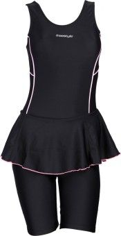 Freestyle Frock With Half Legsuit With Pad Provision Solid Women's