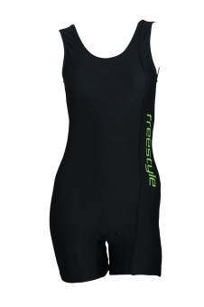 Freestyle Half Legsuit Logo Print With Pad Provision Solid Women's - SWIE7QZFTV9NB6CX