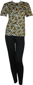 Champ Top With Sleeves With Full Leg Printed Women's