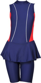 Champ Frock With Half Leg High Neck With Pads Solid Women's