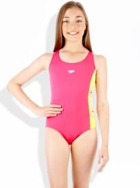 Speedo Pulsdive Placement Splashback Solid Girl's Swimsuit