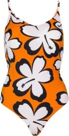 Jellyboy Orange Swimsuit Floral Print Women's