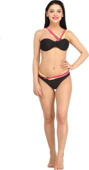 N-Gal Sexy Bikini Swimwear Solid Women's