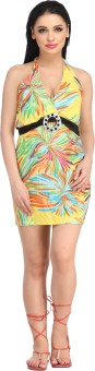 N-Gal Halter Printed Colored Beach Wear Dress Printed Women's