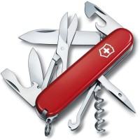 Victorinox Original Climber 14 Function Multi Utility Swiss Knife (Red)