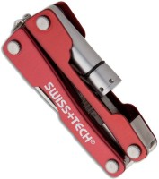 Swiss+Tech Mini Multi-Tool 8 Tool Multi-utility  Swiss Knife (Red)