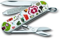Victorinox 0.6223.L1505 7 Function Multi Utility Swiss Knife (Multicolor)