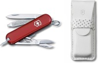 Victorinox 0.6225.J14 - Signature In Leather Pouch 7 Function Multi Utility Swiss Knife (Red)