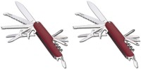 Enerzy (Pack Of 2) 11 Function Multi Utility Swiss Knife (Red)