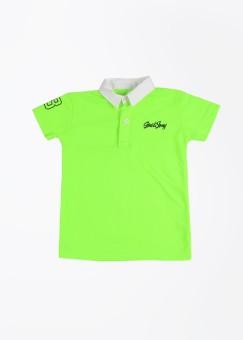 Gini & Jony Solid Boy's Polo T-Shirt