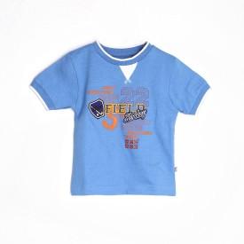Mee Mee B Bgc-Kdstee 4, Sky Blue Graphic Print Boy's Round Neck T-Shirt
