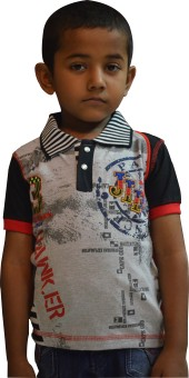 Just In Plus Printed Baby Boy's Polo T-Shirt - TSHE2VAAGHHABZGQ