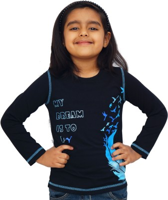 Naughty Ninos Printed Girl's Round Neck T-Shirt