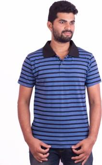 Dk Clues Striped Men's Polo Neck T-Shirt
