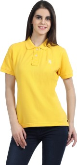 The Cotton Company Luxury Solid Women's Polo Neck T-Shirt - TSHE4ZX47HWD957U