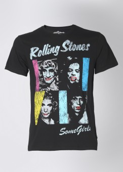 The Rolling Stones Printed Men's Round Neck T-Shirt: T-Shirt