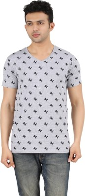 Gravity Plus Printed Men's V-neck T-Shirt