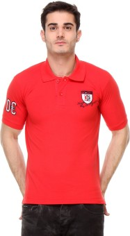 Rose Taylor Striped Men's Polo Red T-Shirt