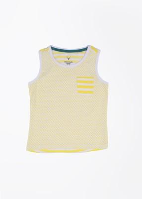 Allen Solly Junior Printed Girl's Round Neck T-Shirt