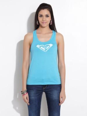 Roxy Roxy Solid Women's Round Neck T-Shirt (Multicolor)