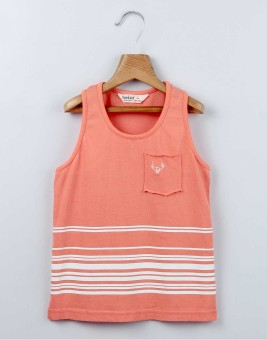 Beebay Striped Boy's Round Neck T-Shirt