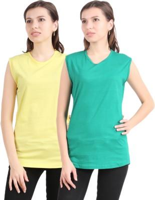 Graceful Solid Women's Round Neck T-Shirt