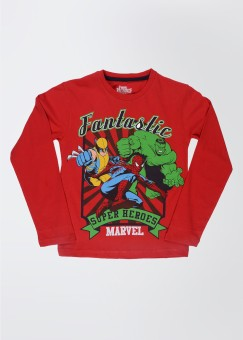 Marvel Printed Boy's Round Neck T-Shirt: T-Shirt