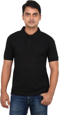 Loox By Apoorti Solid Men's Polo Neck T-Shirt