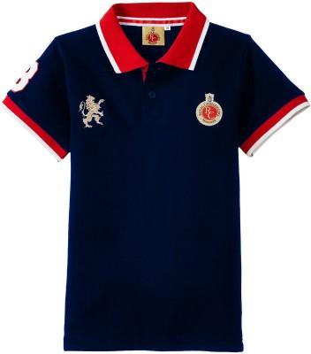 RCB Solid Boy,s, Girl's Flap Collar Neck T-Shirt