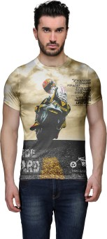 Wear Your Mind Graphic Print Men's Round Neck Multicolor T-Shirt