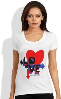 Maya Printed Women,s Round Neck T-Shirt