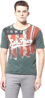 Sf Jeans By Pantaloons Graphic Print Men's Round Neck T-Shirt