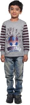 Stop To Start Printed Boy's Round Neck T-Shirt - TSHE6VTPDEZSDUNB