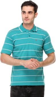 Rose Taylor Striped Men's Polo Blue T-Shirt - TSHEGFGBMMTYA9G6