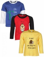 Gkidz Printed Boy's Round Neck T-Shirt - Pack Of 3 - TSHDZYU5XWHAB3ZH