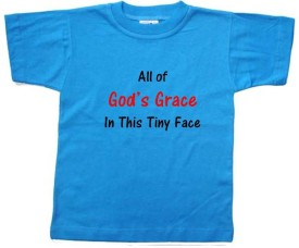 Chota Packet Solid Baby Boy's, Baby Girl's Round Neck Blue T-Shirt
