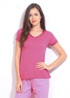 Enamor Solid Women's V-neck T-Shirt - TSHDUM9EF3MZSYTZ