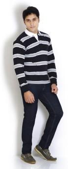Globus Striped Men's Polo Neck T-Shirt: T-Shirt