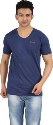 Gravity Plus Solid Men's V-neck T-Shirt