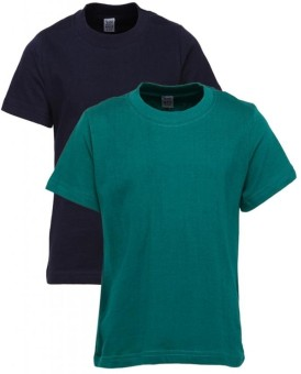 Gkidz Solid Boy's Round Neck T-Shirt (Pack Of 2) - TSHDZWNW4AFFNDJM