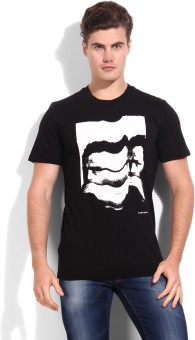 Adidas Originals Graphic Print Men's Round Neck White, Black T-Shirt