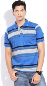 Crocodile Striped Men's Polo T-Shirt