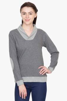 Hypernation Solid Women's Draped Neck T-Shirt