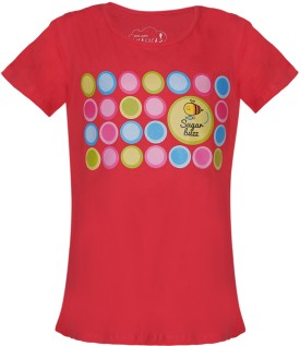 Imagica Solid Girl's Round Neck T-Shirt